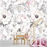 Adaptez des papiers peints muraux à la taille, papiers peints fleuris aux fleurs pour filles