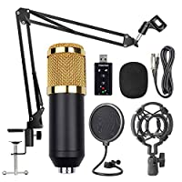 Decdeal BM800 Professional Suspension Microphone Kit Studio Live Stream Broadcasting Recording Condenser Microphone Set
