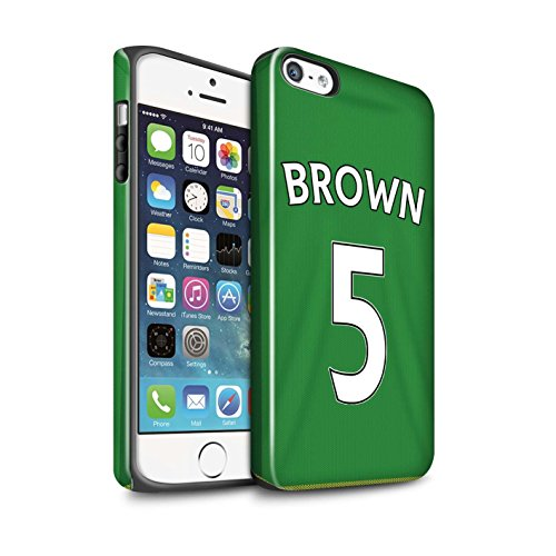 Offiziell Sunderland AFC Hülle / Glanz Harten Stoßfest Case für Apple iPhone SE / Pickford Muster / SAFC Trikot Away 15/16 Kollektion Brown
