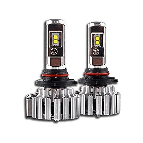 KDGWD LED Phare AmpouleAmpoules à phare LED 9005 70W 6000K 9000LM CREE Beam Cree Kit de conversion de lampe à phare à LED - Plug & Play , 9012