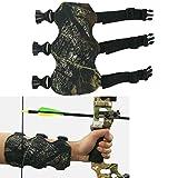 SPORTSMANN Armschutz Bogenschießen Jagd Bogen Armschoner Leder Arm Guard mit 3 Verstellbaren Trägern (Camouflage)