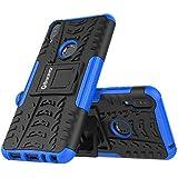 Bracevor Shockproof Hybrid Kickstand Back Case Defender Cover For Asus Zenfone Max Pro M1 - Blue