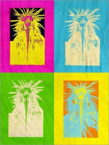 Leinwandbild 30 x 40 cm: Andys Waldrapp von Dominique Fischer - fertiges Wandbild, Bild auf...