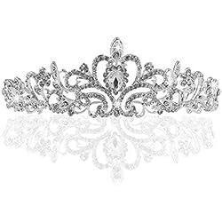 TinkSky® Hochzeit Tiara Braut Tiara mit Kristalle Rhinestones für Hochzeit, Abschlussbälle, Festzüge, Princess Party, Geburtstag