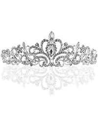 TinkSky® Mariage Tiare, Nuptiale Couronne Tiara Avec Cristaux Strass Pour Le Mariage, Proms, Pageants, Princesse Parties, Anniversaire
