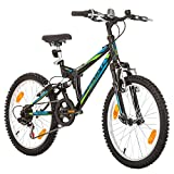 20 pollici, CoollooK, SPRINT, Bicicletta Mountain Bike, Unisex, 6 velocità, Nero