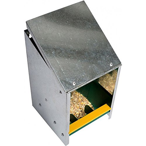 Beeztees 18135 Futterautomat mit Deckel aus Metall, 2.5 kg