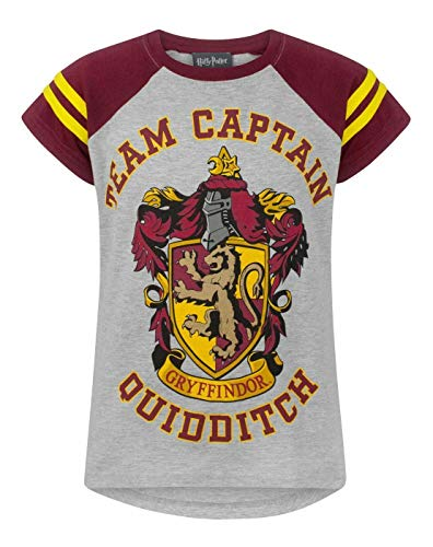 Harry Potter Quidditch Team Captain Girl\'s T-Shirt (11-12 Years)