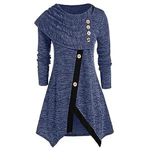 Toasye LangäRmlige Losedigitaldruckrundhalsausschnitts Der Damen-Weihnachten 3D Frauen Print Weihnachten Langarm O-Neck Pullover Sweatshirt Bluse Tops