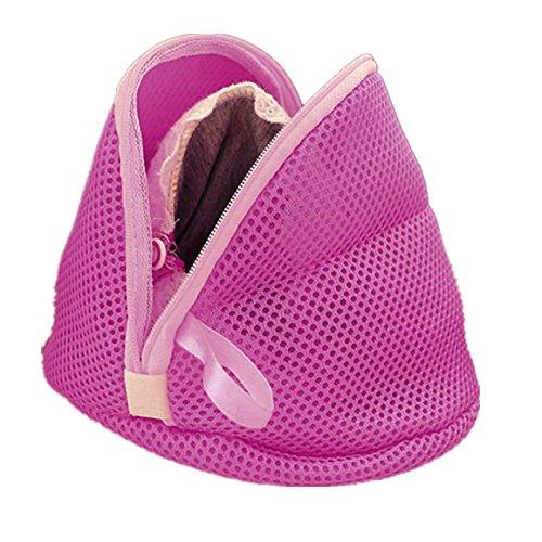 Hukz Frauen-Büstenhalter-Wäscherei-Wäsche, die Strumpfwaren-Sparer wäscht, schützen Sich Kleine Tasche(16,5 cm * 9 cm) (Lila)