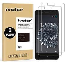 iVoler [2 Unidades] Protector de Pantalla para BQ Aquaris X5 Plus, Cristal Vidrio