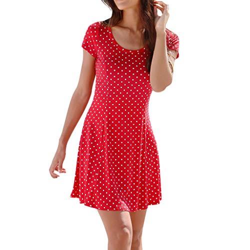 Itisme vestiti donna,mini abito donna halter neckboho print senza maniche casuale spiaggia vestito estivo beachwear
