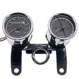 TEQIN Odometer,2 in 1 Motorcycle LED Backlight Odometer & Tachometer Speedometer Gauge Universal