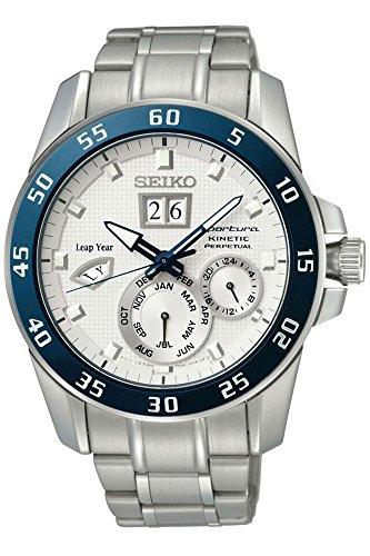 Seiko Herren-Armbanduhr XL Sportura Kinetic Diver\'s Analog Automatik Edelstahl SNP085P1