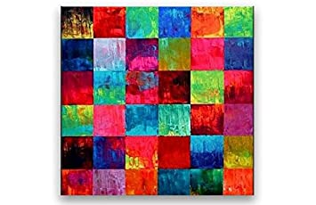 Perfect Bilder Auf Leinwand Ölgemälde Abstrakte Kunst Handgemalt Moderne Große    Colorful Squares Good Looking