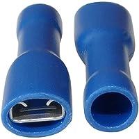 Aerzetix 10 Kabelschuhe Elektroflachh/ülsen Auge /Öse M4 /Ø4,3mm 1-2.5mm2 blau isoliert