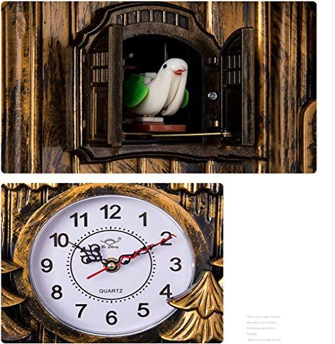 GRTEW Wohnzimmer Uhren Kuckucksuhr läuten Moderne kreative Intelligenz Persönlichkeit Stummschaltung, EIN