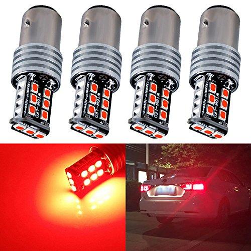 TABEN Plus récente 12 V Super Lumineux basse consommation 1156 BA15S 7506 1141 1073 1093 ampoules LED avec queue de remplacement pour vidéoprojecteur pour feux de stop, Brilliant Red (2-Pack)