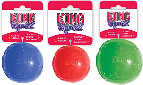 Kong Squeezz Ball, Gioco Ideale per Cani, Disponibile in 3 Diverse Dimensioni