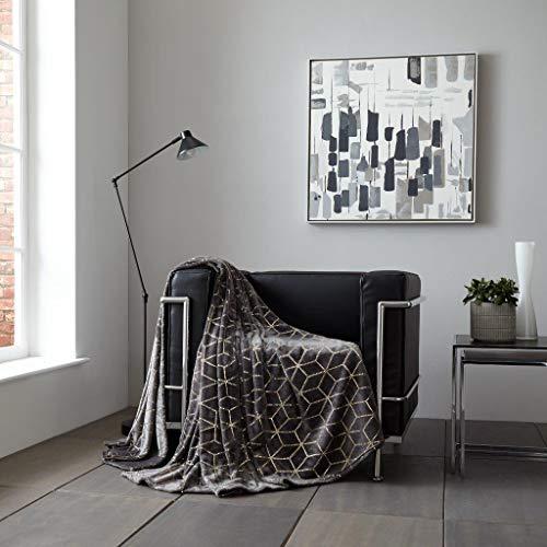 Pavla-Outlet - Manta de Forro Polar para sofá o Cama, diseño geométrico...