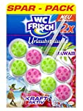 WC Frisch - Detergente per WC, con forza attiva, Hawaii, confezione da 10 (10 x 2 pezzi)