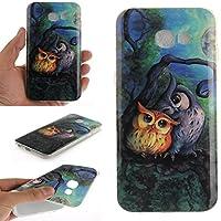 Coque Galaxy A5 2017 , LH Peinture à l'huile Hibou Silicone Doux TPU Case Cover Housse Etui pour Samsung Galaxy A5 2017 A520 ( ne pas appliquer Samsung Galaxy A5 2015 /2016 )