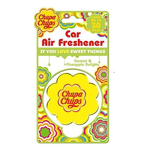 Chups Auto Deodorante Profumo Cocco e Ananas Delights Sweet Moments Deodorante per Auto, Durata Fino a 30Giorni CHU1002