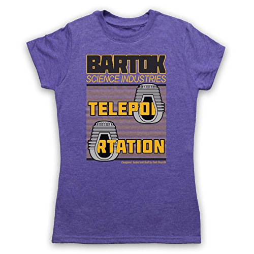 Inspiriert durch The Fly Bartok Science Industries Unofficial Damen T-Shirt Jahrgang Violett