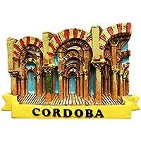Wedare 3D - Imán de nevera de Córdoba, España, estilo mezquita, hecho a