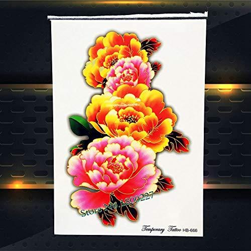 Zhuhuimin 5 Teile/Satz Beast Thailand Buddhismus wasserdichte Tattoo Body Art Arm Tattoo Aufkleber Buddhismus Monster Schwarz Dunkel