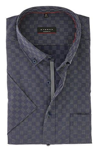 Preisvergleich Produktbild ETERNA Kurzarm Hemd MODERN FIT kariert blau 41-H Halbarm