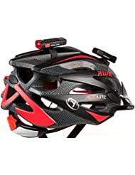 AWE® Nano FireTM USB 24 Lumens Casque rechargeable vélo Light Set Noir