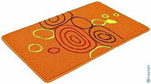 XXL Tappetino da bagno bagno doccia tappetino da bagno tappetino tappeto da bagno arancione 90x 160cm (785812)
