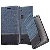 Cadorabo Book Case works with WIKO VIEW 2 PLUS in DARK BLUE