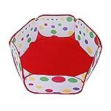 Nette Pop Up Hexagon Polka Dot Kinder Ball Spiel Pool Zelt Tragen Tote Spielzeug ohne Bälle