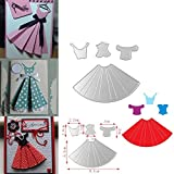 Gemini_mall® Metall-Stanzform, Schablone, für Bastelarbeiten, Scrapbooking, Alben, Papierkarten, Prägen Dress