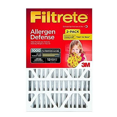 Filtrete Micro Allergen Defense Deep Pleat Filter, MPR 1000, 20-Inch x 25-Inch x 4-Inch (4-3/8-Inch Depth), 2-Pack