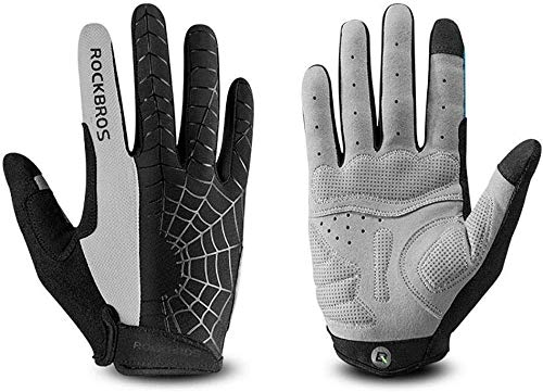 Zghzsc Guanti Full Finger Gel Imbottite for Mountain Bike Strada Equitazione Touch Screen Gloves for Uomini e Donne (Size : Medium)