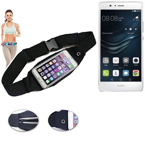 Preisvergleich Produktbild Gürteltasche Umhängetasche Bauchtasche für Huawei P9 Lite,  schwarz. Sport Running Jogging Fitness Laufen Exercise Schutzhülle - K-S-Trade (TM)