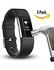 Fitbit carga 2 Protector de pantalla, Yafine HD Ultra claro Protector de pantalla para carga de Fitbit 2 Fitness Tracker (3 Pack)