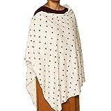 #8: Kadambaby - Premium Nursing Cover/Breastfeeding Poncho/100% Cotton. Stylish Nursing poncho/can be used as Stole/Scarf (Red Rose)
