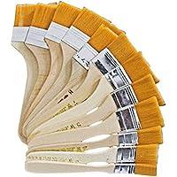 BEETEST brochas de pintor 12 diverso tamaño cepillos mango de madera Set Nylon pelo cepillo cabeza Kit pinceles para pintura al óleo artista dibujo pincel pegamento pintura de muebles de la pared de polvo de limpieza