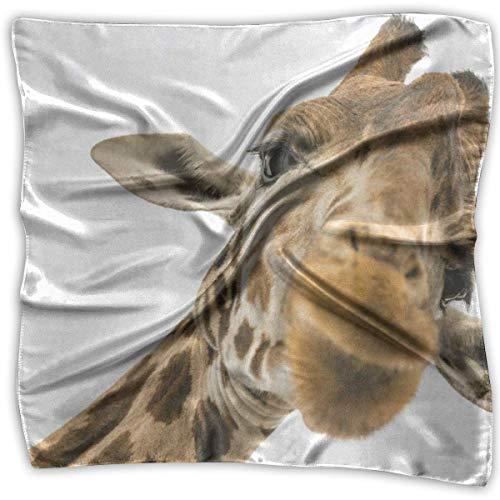 Rghkjlp Square Scarf Giraffe On Sunset Handkerchief Unisex Muffler Tie for Woman (Add-on-schals)
