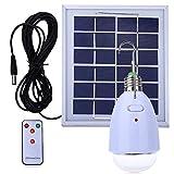 LED bombilla solar colgante E27 base 12-LED Dimmable luz al aire libre multi-funcional panel solar alimentado con control remoto para acampar ir de excursión a casa de iluminación de emergencia