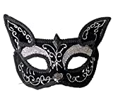 Femmes Sexy Mignon Chat Masque Glitter Mascarade Vénitienne Halloween Party Mask Masque