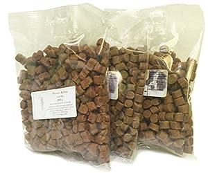 Chaleur ° 100% de viande softies sans céréales Entraînement Friandises pour chien de 4(4x 200g) 200g Bouquet de Lapins, 200g, 200g Saumon, 200g Oie