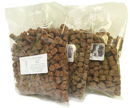 Hitzegrad 100% Fleisch Softies Glutenfreies Trainingsleckerli für Hunde 4er Pack (4x 200g) 200g Kaninchen, 200g Strauß, 200g Lachs, 200g Gans (Frische Fleisch Kaninchen)