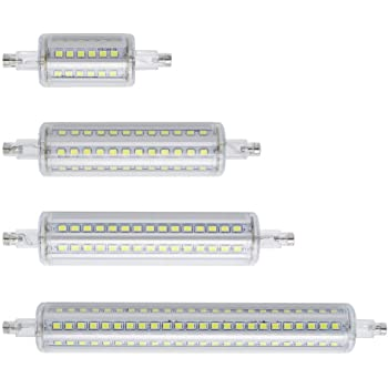 GGSSYY-JNDP 2pcs Ahorro de energía Regulable R7S Led luz de maíz 78Mm 118Mm 135Mm