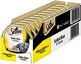 Sheba Adult Katzen-/Nassfutter, für erwachsene Katzen Selection in Sauce Häppchen, mit Huhn, 22 Schalen (22 x 85 g)