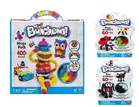 Bunchems Mega Pack and 2 Creation Pack Refills Pet Bug Kids Art Craft Toy Bundle